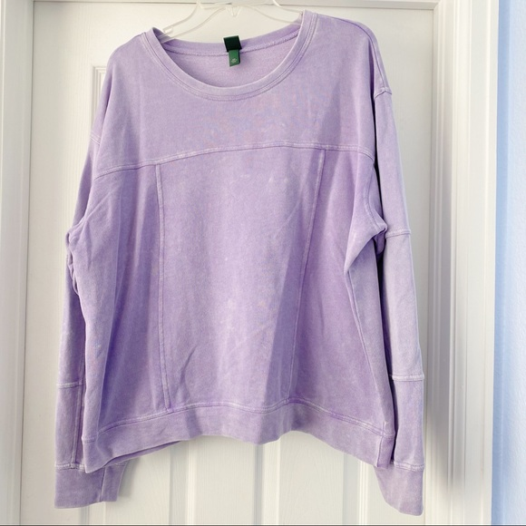 Wild Fable Acid Washed Lilac Pullover XXL